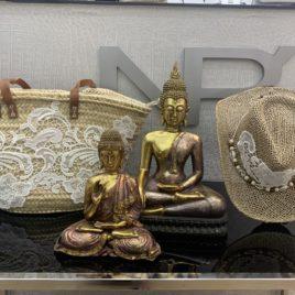 Conjunto de cesta ibicenca y sombrero exclusivo Nieves Perez