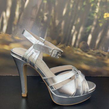 Zapato plataforma color plata