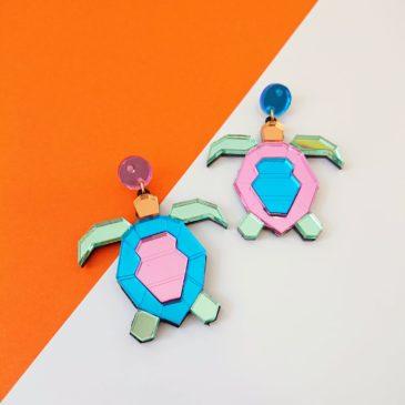 Pendientes de tortugas