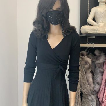 Vestido de punto negro ágata