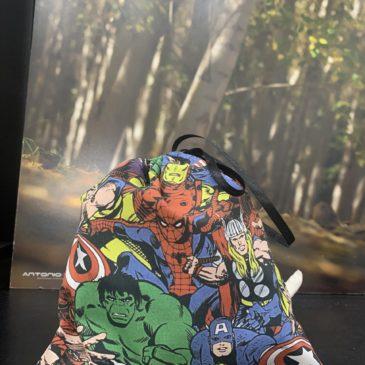 Bolsitas para Mascarillas de tela de superhéroes de cómics