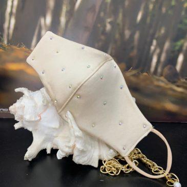 Mascarilla oro con cristales de swarovski