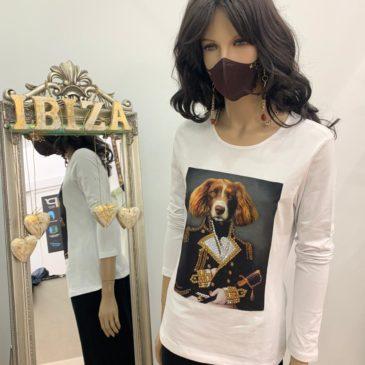 Camiseta perro general de cristales de Swarovski