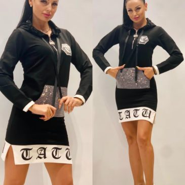 Vestido Sport negro y plata