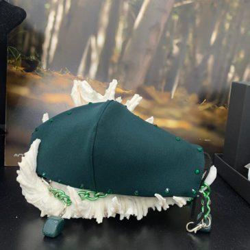 Mascarilla verde con cristales de Swarovski verdes de mujer y hombre