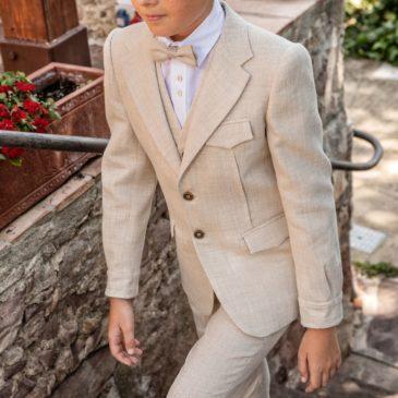 Americana de pinzas vintage Kids beig claro