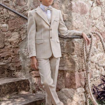 Pantalón vintage en color beige claro