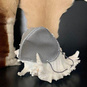 Cubremascarillas para FFP2 plata con cristales de Swarovski