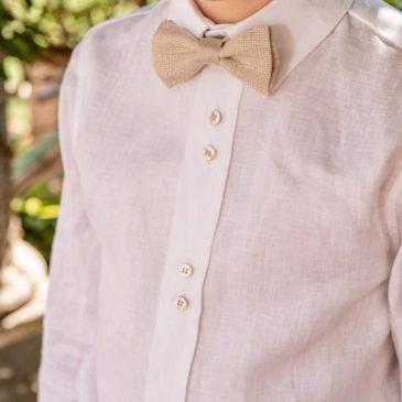 Camisa blanca con cuello camisero Kids