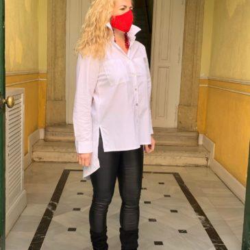 Camisa elástica amore blanca