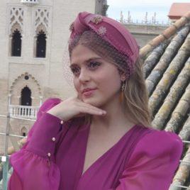Diadema Serafín rosa y fucsia