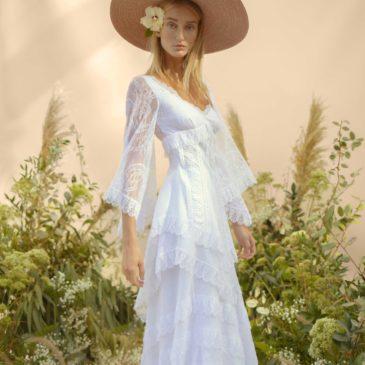 Vestido de novia Gloria con falda Betty