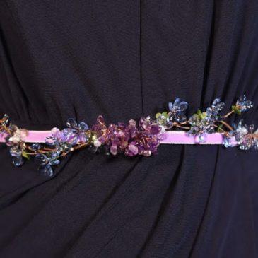 Cinturón joya lila
