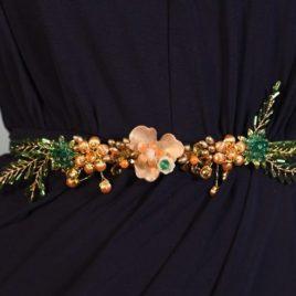 Cinturón joya oro y verde