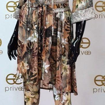 Conjunto de vestido y pantalón selva