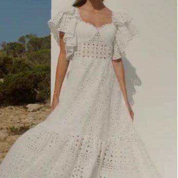 Vestido largo linda blanco o negro