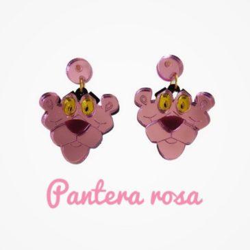 Pendientes pantera Rosa