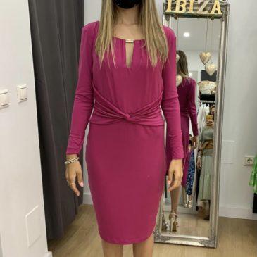 Vestido Ania fucsia