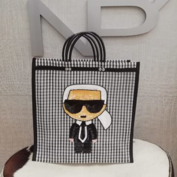 Bolso rafia Karl Lagerfeld