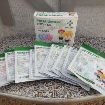 Mascarillas FFP2 10 unidades para niñas de 3 a 9 años de dibujos de colores