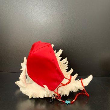 Mascarilla de Swarovski roja