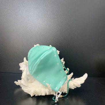 Mascarilla agua marina con cristales de Swarovski