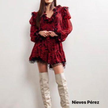 Vestido pantera rojo