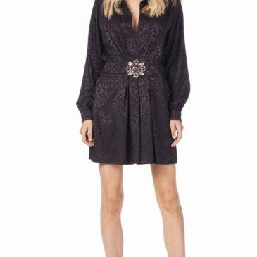 Vestido Jacquard negro