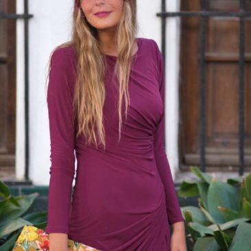 Vestido Versace color buganvilla